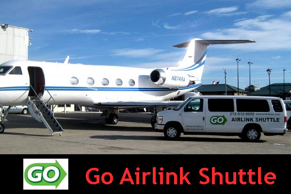 The Go Airlink New York Airport Shuttle Service is an on demand airport transportation service available at all three of the major airports in NYC. The Go Airlink New York Airport Shuttle provides airport transfers for NYC commuters that need to travel from one major airport in NY to the next/5.