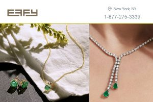 Emerald Pendant Necklace New York