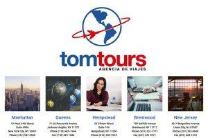 Tom Tours Travel Agency Queens Manhattan