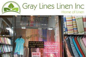 Gray Lines Linen